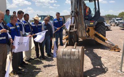Arrancan la construcción de la red de alcantarillado en beneficio de la comunidad de el Tecuán