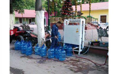 Lleva JCAS planta potabilizadora móvil a comunidades inundadas en Chínipas y Batopilas